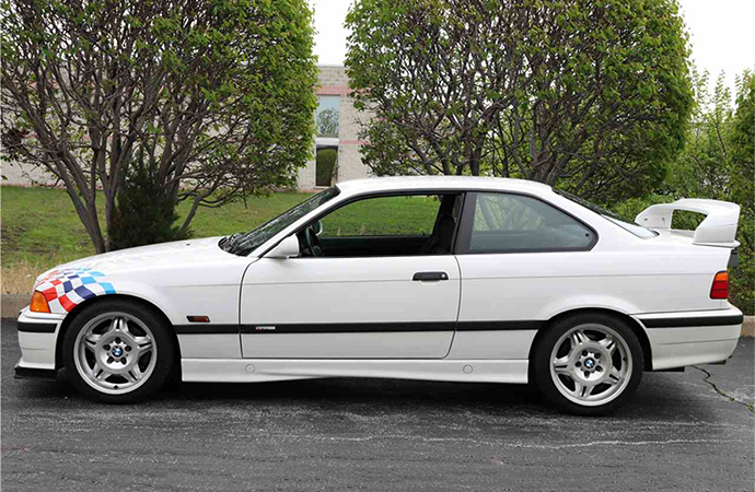This 1995 BMWM3 Lightweight will be one of the cars available at Barrett-Jackson's Northeast auction June 20-23 in Uncasville, Connecticut. | Barrett-Jackson photo