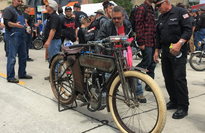 Chris Tribbey's 1911 Excelsior Auto Cycle is set to ride 3,750 miles coast-to-coast in this year's Motorcycle Cannonball race. | William Hall photo