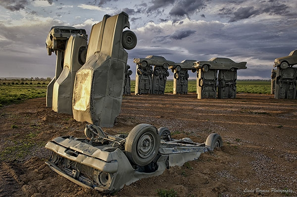 Carhenge is one of a handful of Stonehenge-inspired attractions in the United States. | Carhenge photo