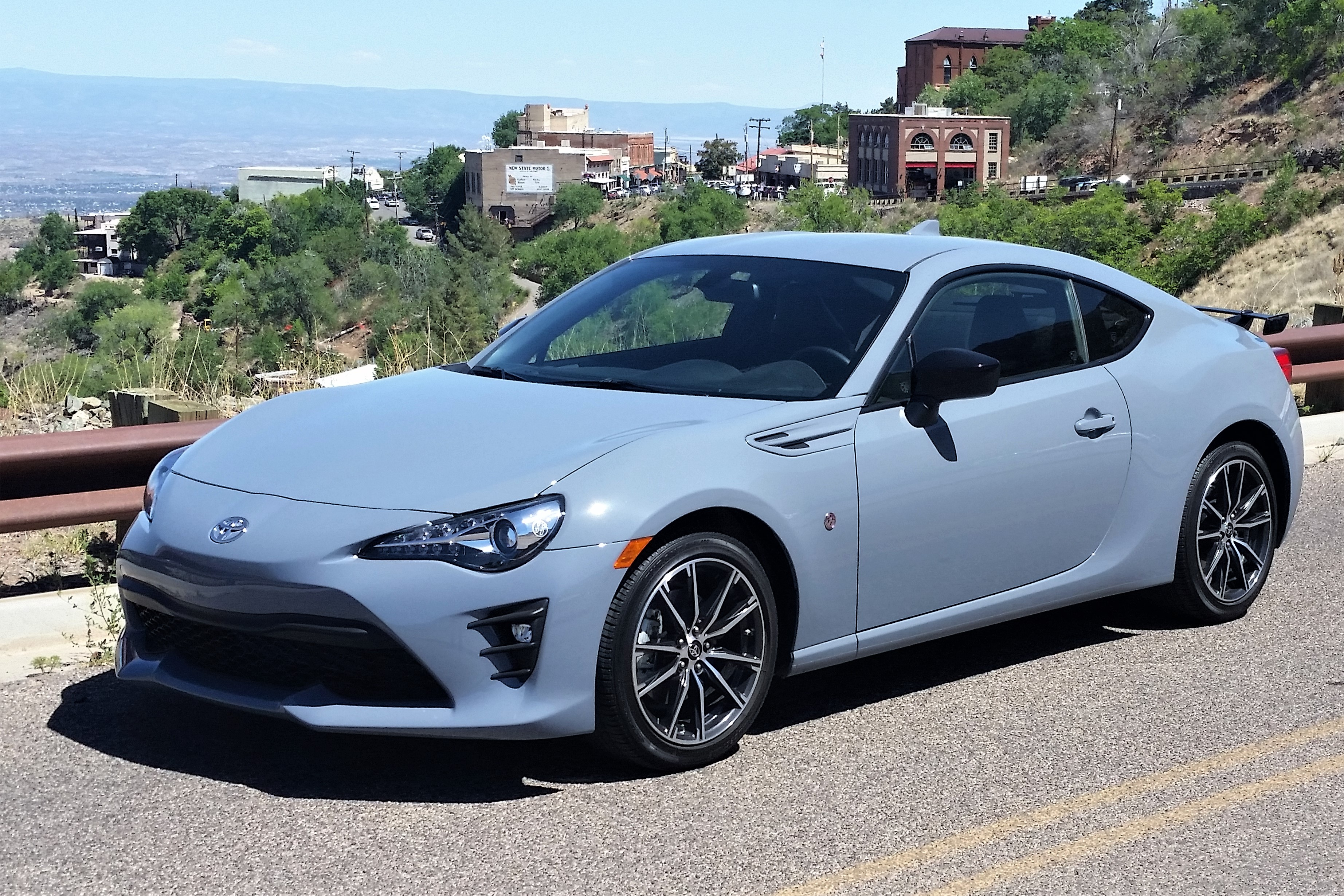 The Toyota 86 just above the quaint old mining town of Jerome, Arizona | Bob Golfen photos