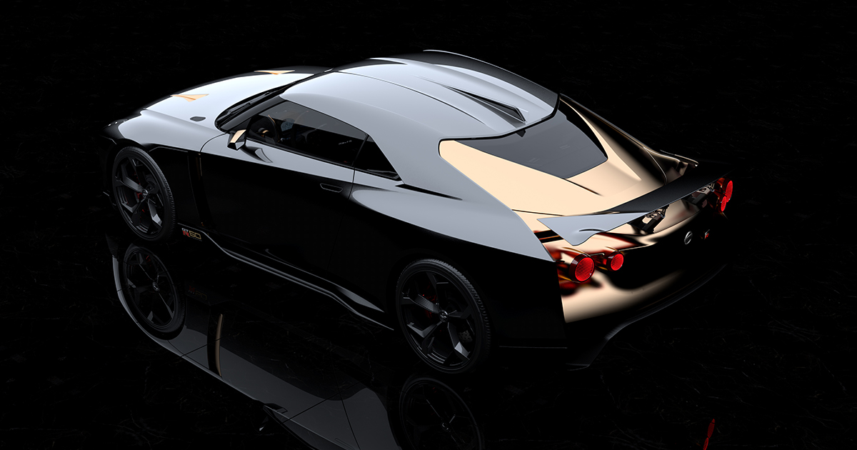 Based on a production 2018 Nissan GT-R NISMO model, the Nissan GT-R50 by Italdesign commemorates the 50th anniversaries of both the GT-R and Italdesign. | Nissan photo