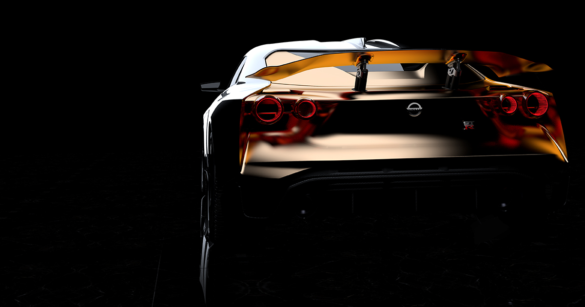 The designers added an expanse of gold trim to emphasize the muscular flares around the wheels. | Nissan photo