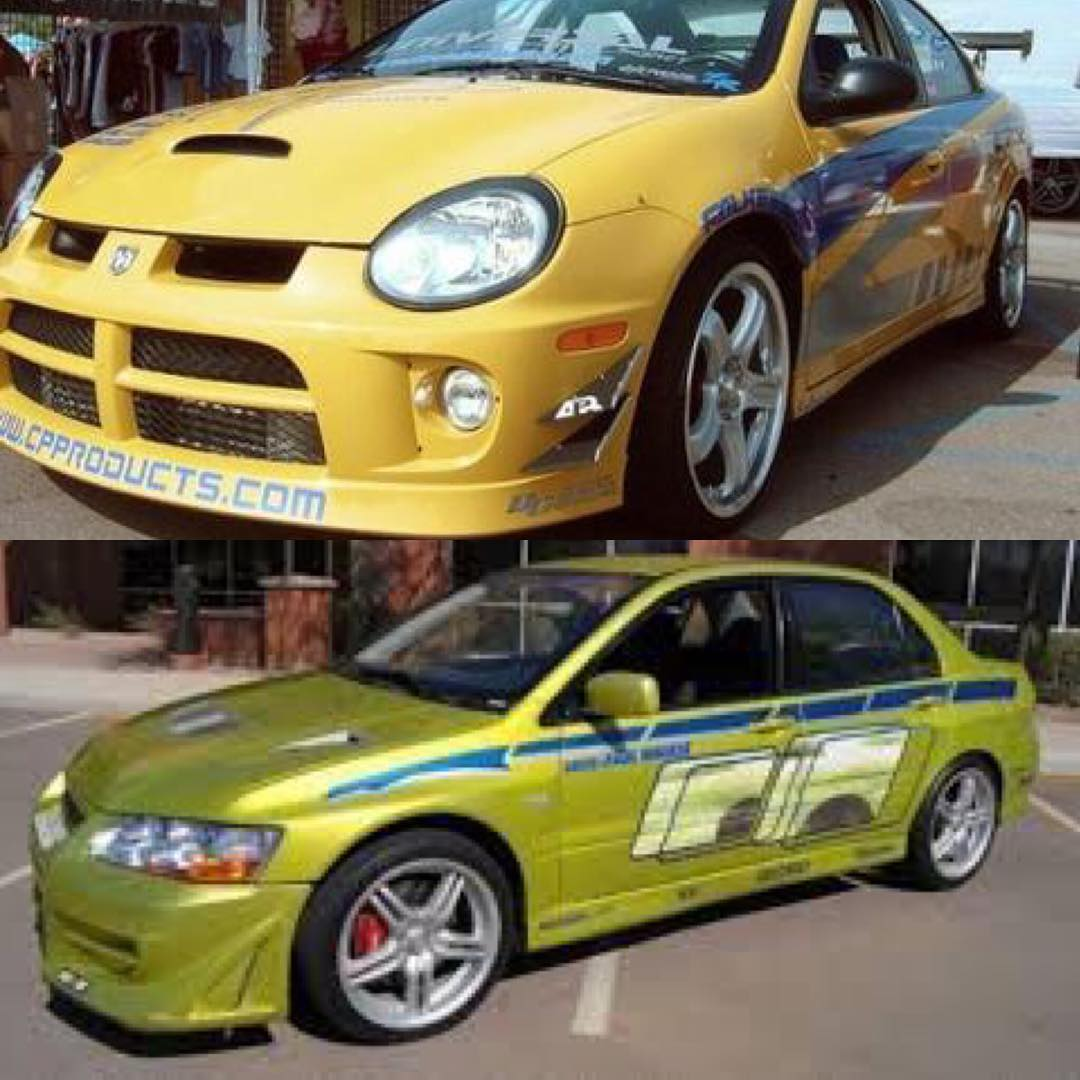 """My argument was mainly that most kids don't grow up with a poster of a Neon SRT4 on their wall, but many aspire to someday own an Evo,"" Lieberman explained on Instagram. ""Universal wanted to appeal to die hard car fans and so to their credit, we turned down a huge contribution by Dodge to get Evos."" 