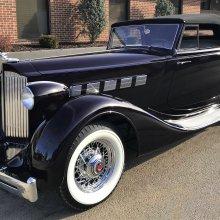 Deep-purple 1935 Packard wins AACA Zenith Award