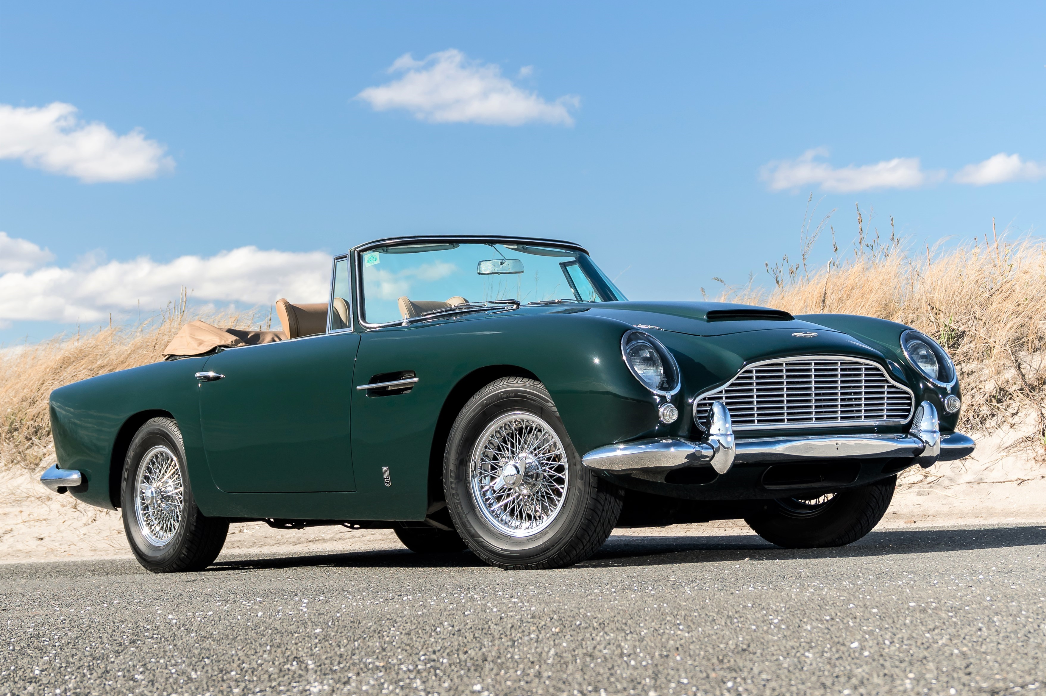 An Aston Martin DB5 convertible was the high seller of the auction | Bonhams