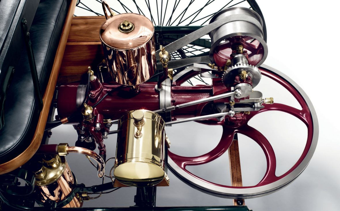 The car, including the replica engine, is in full working order. | Mercedes-Benz photo