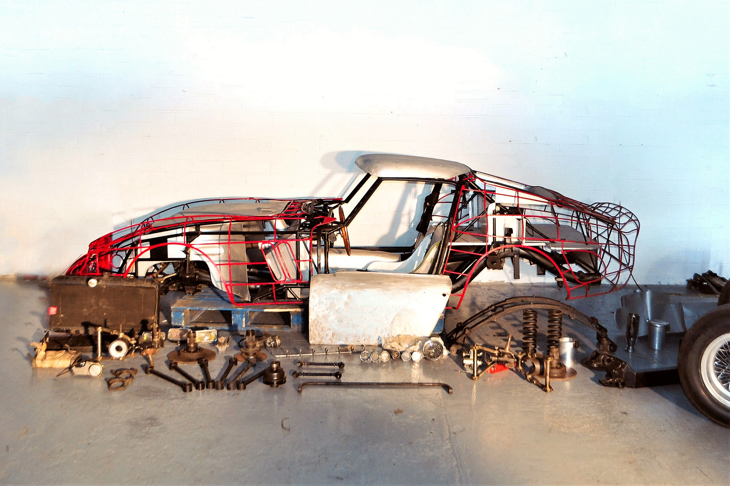 Many crucial Ferrari GTO parts are ready for the handy owner to build a complete one | Coys