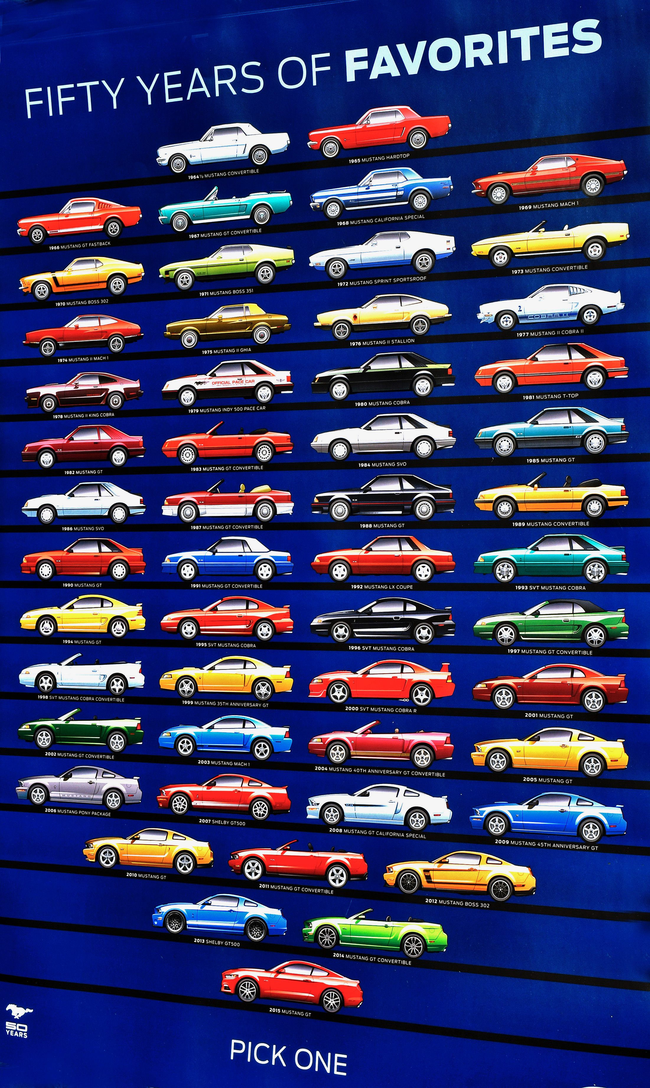 Fifty years of mustang poster 2861 howard koby photo