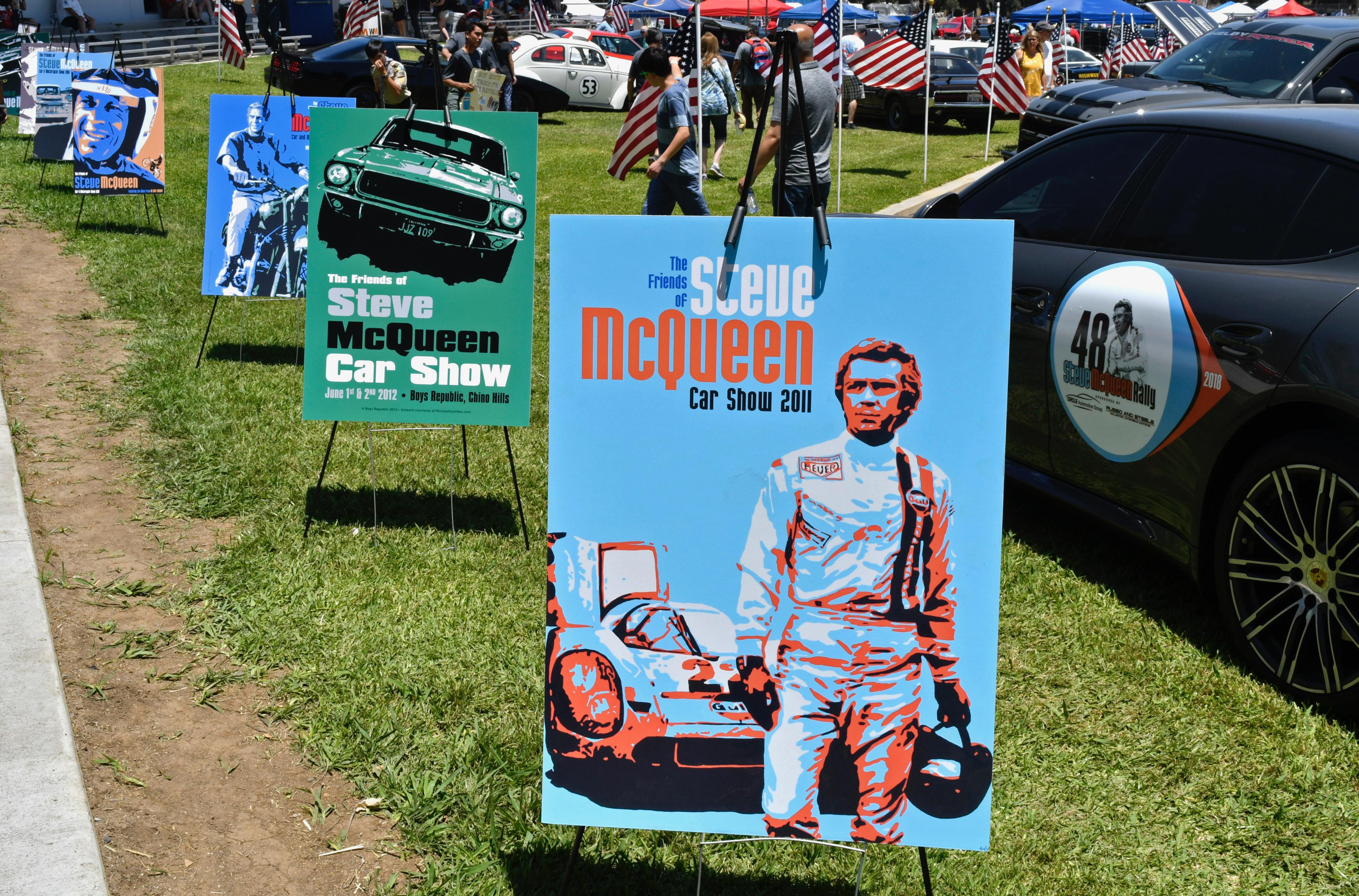 Still Cool Years Later McQueen And Bullitt Mustang - Chino hills car show