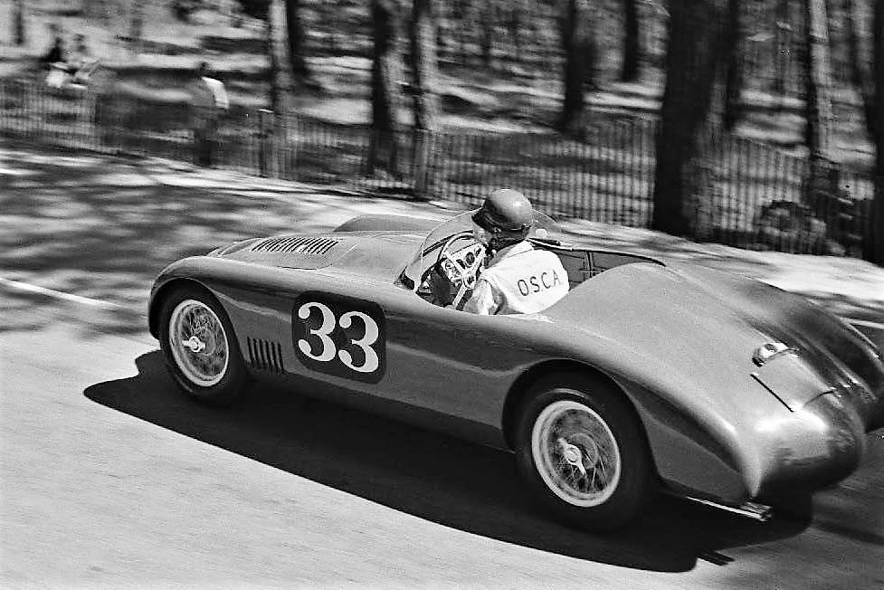 The 1952 OSCA MT4 MM Spider racing at Pebble Beach in 1953 | Pebble Beach Concours