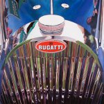 Photorealistic painting of a 1938 Bugatti Type 57C Grille by Art Reid