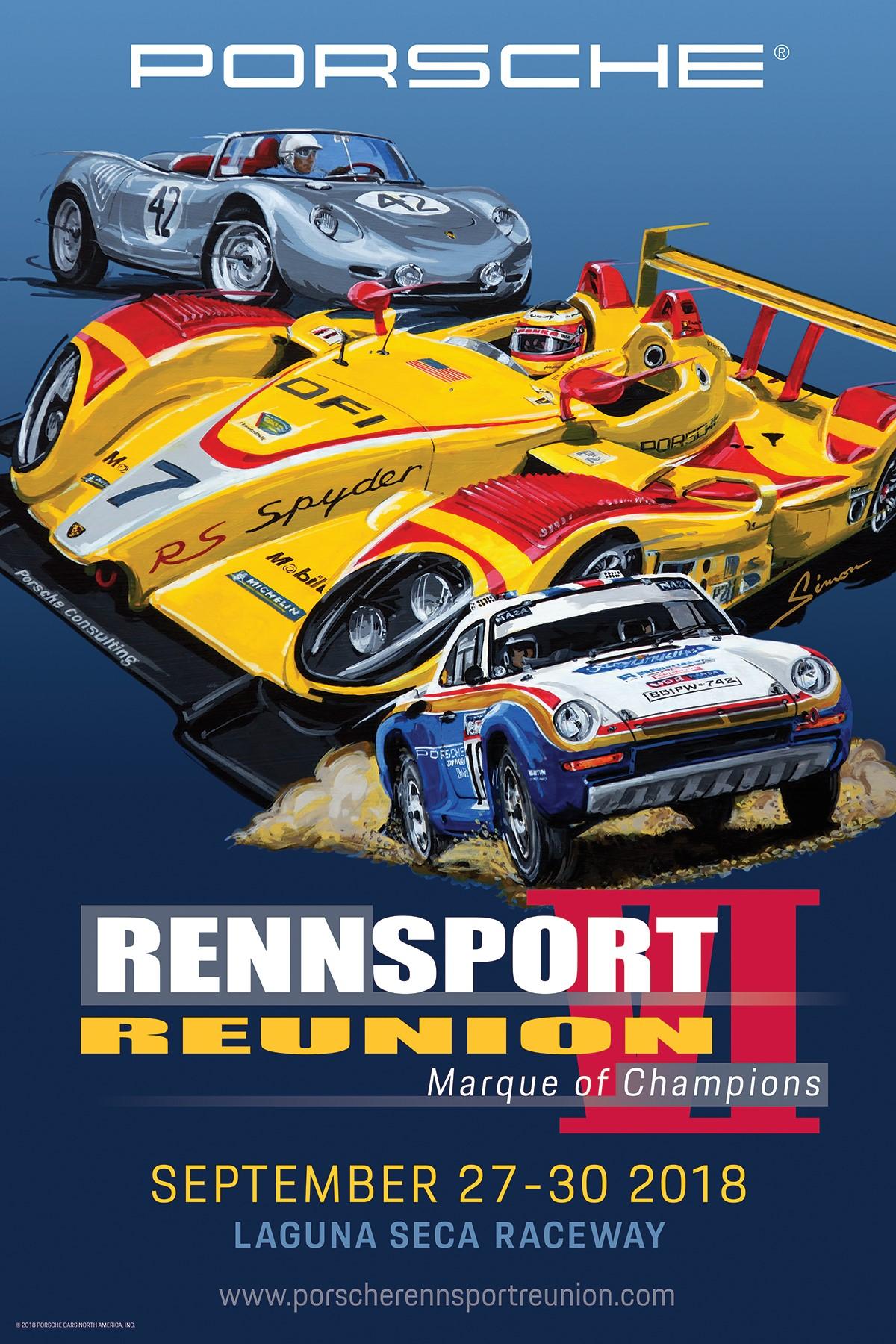 Porsche Rennsport Reunion 2018 poster