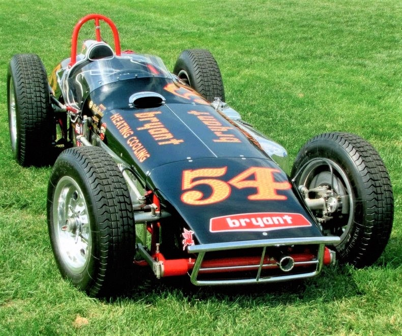 The 1961 Quinn Epperly Indy Roadster with its unique laydown engine