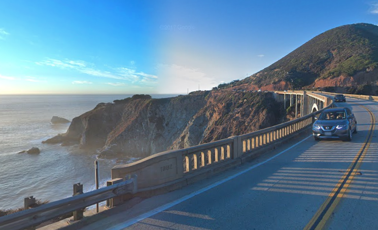 The Pacific Coast Highway in California | Google Maps photo