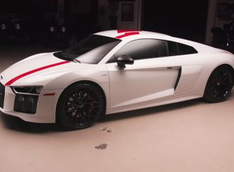 Jay Leno takes the Audi R8 RWS supercar out for a spin