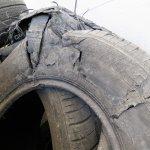 blown tire carcass