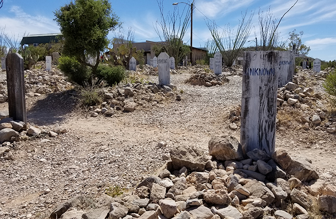 Boothill Grave Yard earned its name because many of those interred there died with their boots on. Most were outlaws. | Carter Nacke photo