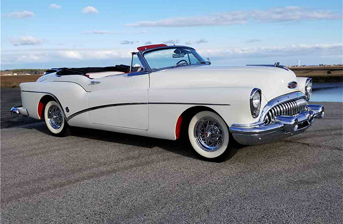 This 1953 Buick Skylark convertible will be up for auction at Barrett-Jackson's Northeast auction in Uncasville, Connecticut June 20-23.   Barrett-Jackson photo