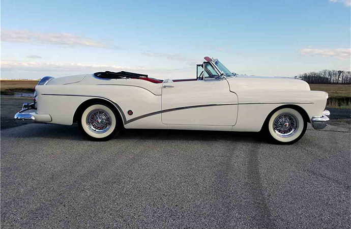 This 1953 Buick Skylark convertible will be up for auction at Barrett-Jackson's Northeast auction in Uncasville, Connecticut June 20-23. | Barrett-Jackson photo