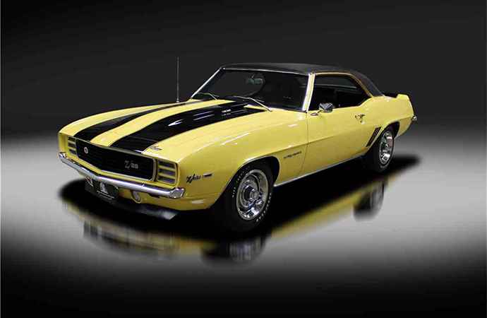 This 1969 Chevrolet Camaro RS Z/28 will be on the auction block at Barrett-Jackson's Northeast auction in Uncasville, Connecticut June 20-23. | Barrett-Jackson photo