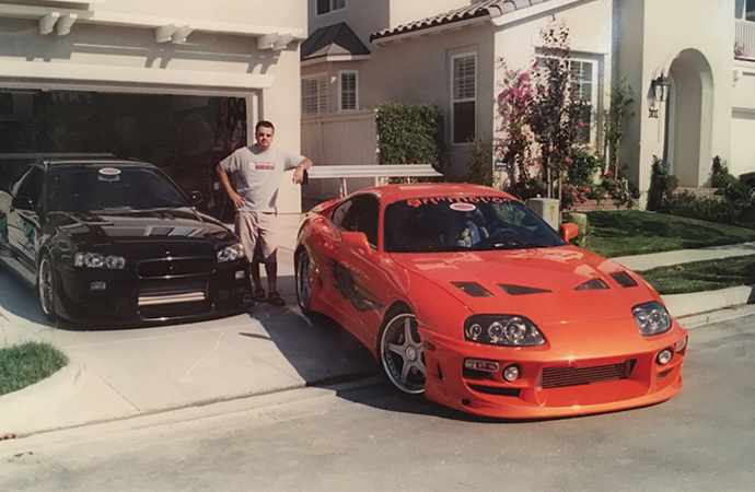 The Fast & the Furious would have been very, very different if it weren't for one man: Craig Lieberman. He is pictured here with two of his cars. Lieberman owned the Supra used in the film. | Instagram photo