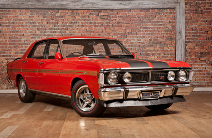 This 1971 Ford Falcon GTHO Phase III was the first Australian-made car to sell for more than $1 million AUD. | Lloyd's Auctioneers and Valuers photo