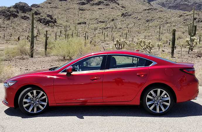 The 2018 Mazda6 easily handled some of southern Arizona's mountains. | Carter Nacke photo.