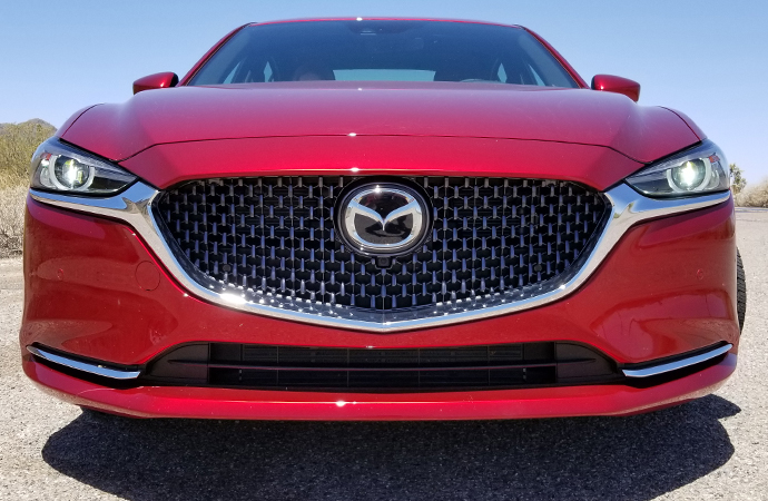 Like most cars, the 6 has a make logo on the grill. But unlike most cars, the Mazda logo contains a radar system used by the cruise control. | Carter Nacke photo