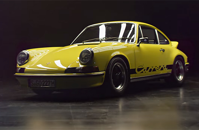 Porsche featured a slew of its signature cars in the video. | Screenshot