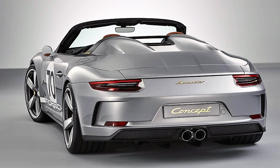 The Porsche Speedster has a sleekly aerodynamic form