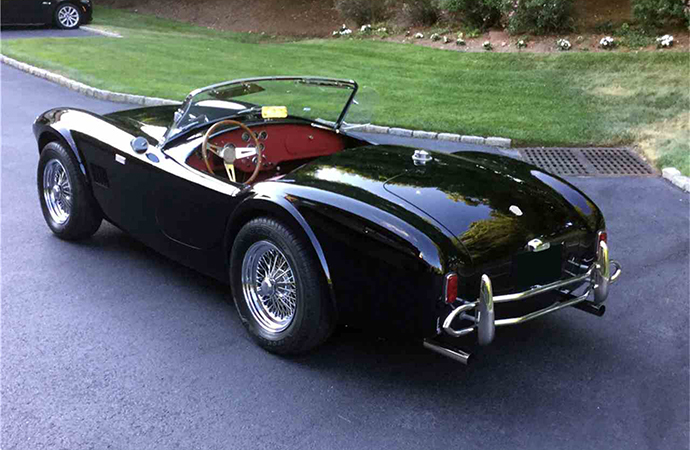 This 50th anniversary edition Shelby Cobra roadster will be on the block at Barrett-Jackson's Northeast auction June 20-23 in Uncasville, Connecticut. | Barrett-Jackson photo