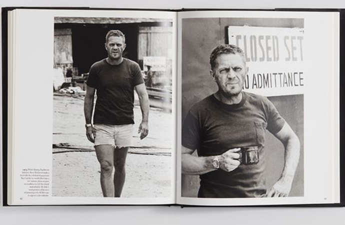 Steve McQueen is seen wearing the Rolex in these photos. | Phillips photo