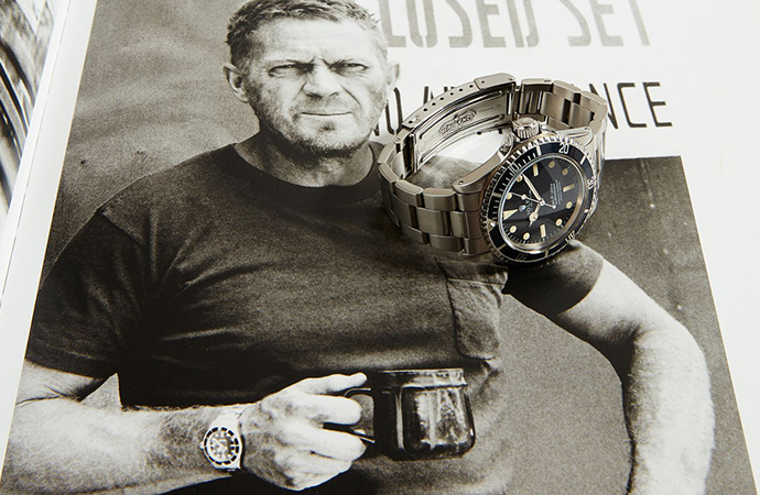 A Rolex Submariner once owned by legendary actor Steve McQueen and later given to his favorite stuntman, Loren Janes, will be up for sale. | Phillips photo