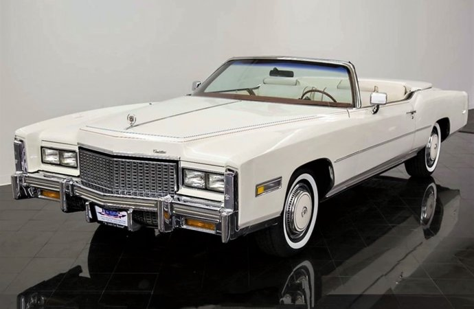 Red, white and blue 1976 Cadillac Eldorado Bicentennial Edition