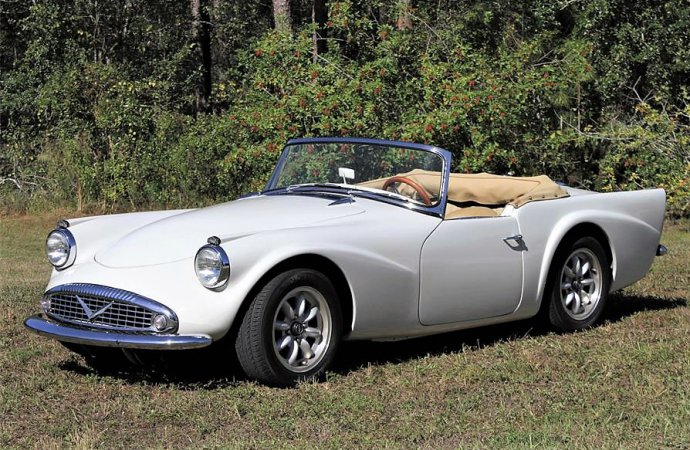 V8-powered 1963 Daimler Dart roadster, a rare and unique find