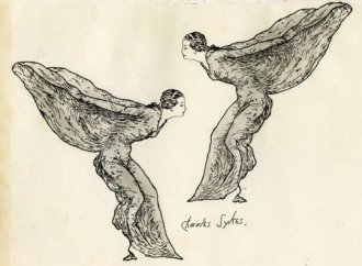 Online auction includes original 'Spirt of Ecstasy' sketches