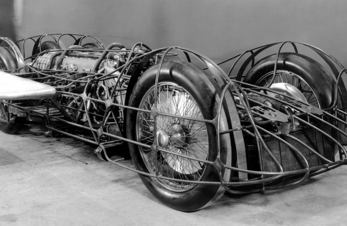 Mercedes museum showcases 'completed' T 80 speed car