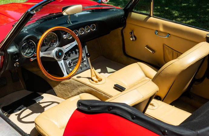 The tan upholstery is apparently in very good shape. | Mecum photo