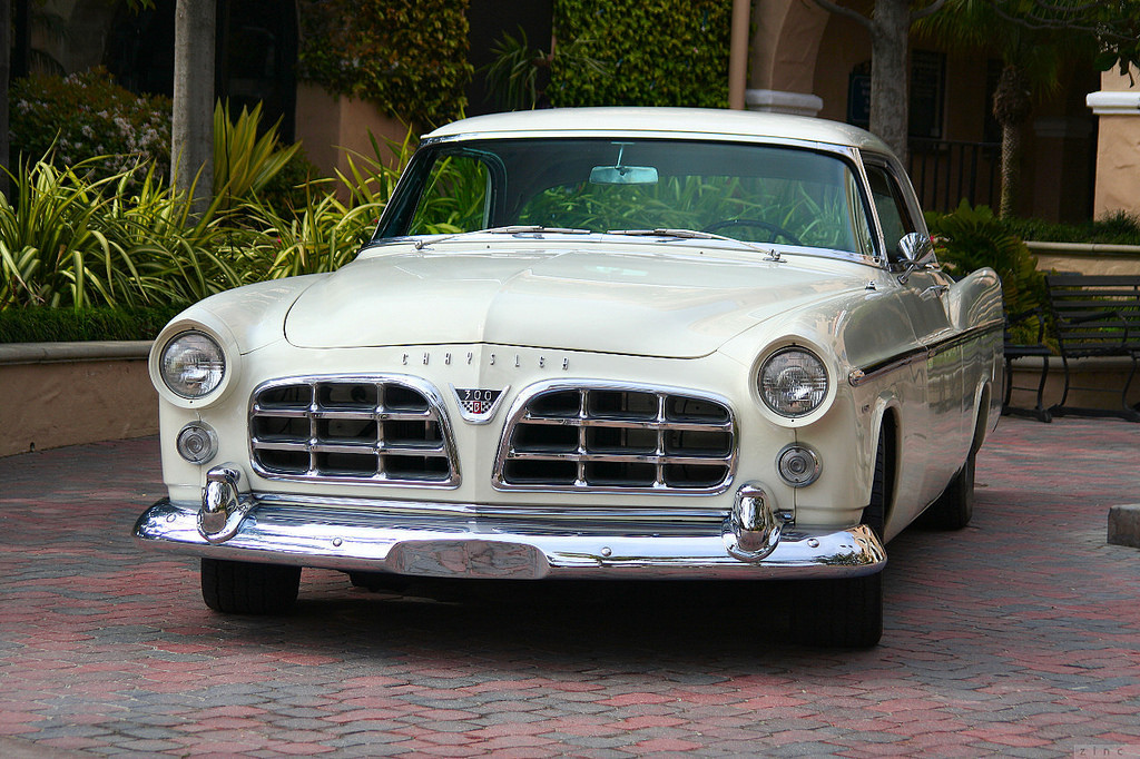 The 1956 Chrysler 300B had a 354 Hemi under the hood and was yet another step toward the coming horsepower wars. | Flickr photo by Rex Gray cropped and published under CC 2.0