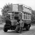 1972 Ford veteran Bus with Lord Monagu