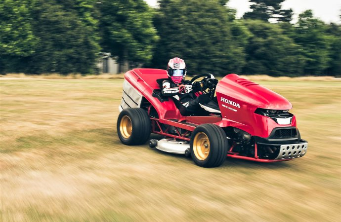 Honda's fastest-mower contender cuts the grass at Goodwood