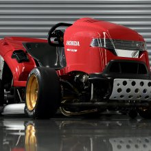 Honda seeks to regain fastest lawnmower record