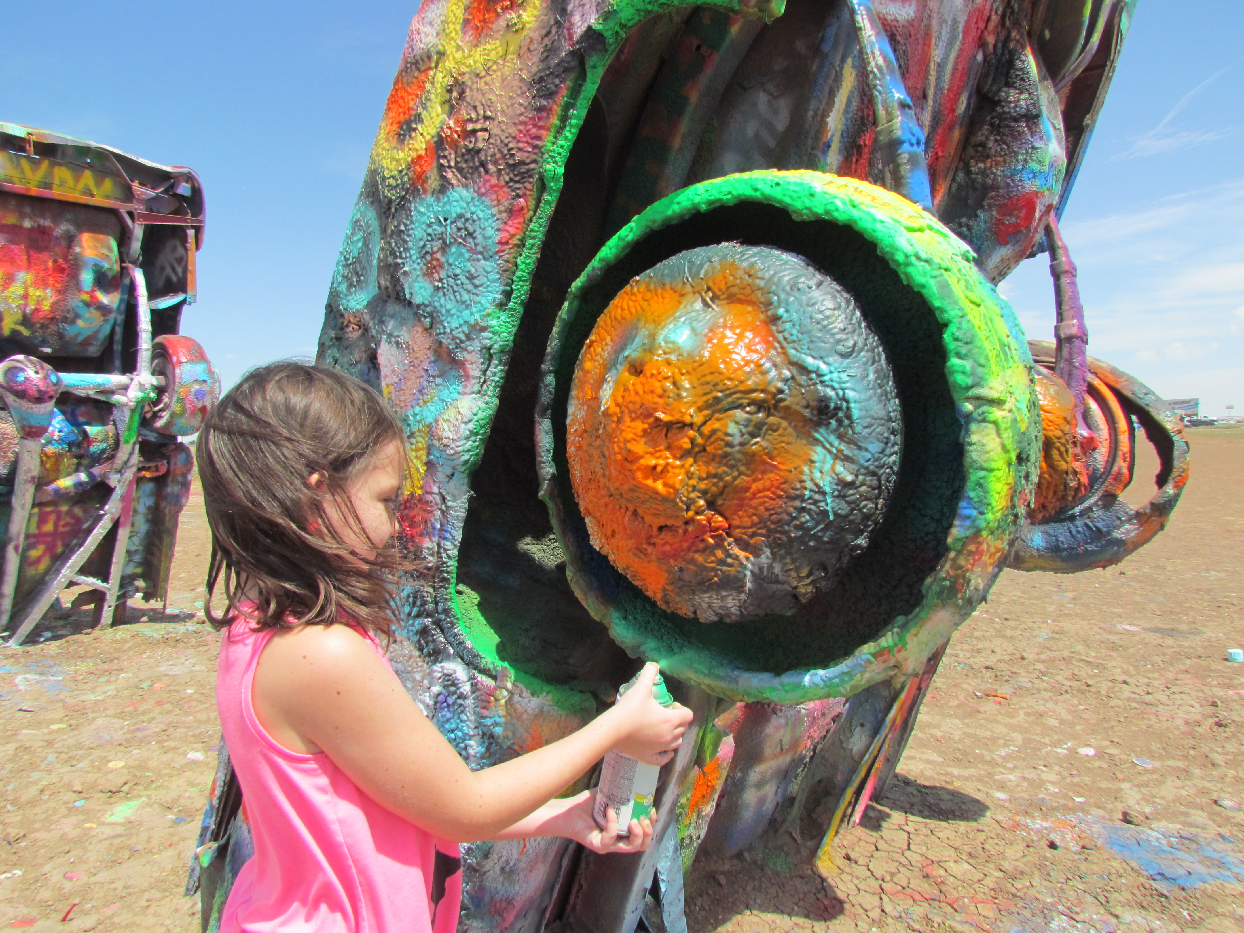 Leaving your mark (or maybe not) at Cadillac Ranch