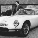Jim Clark and James Scot in 1962 with Jim's new Lotus Elite.