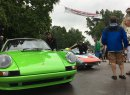 Street cars staged a show in the Village of Elkhart Lake. | William Hall photo