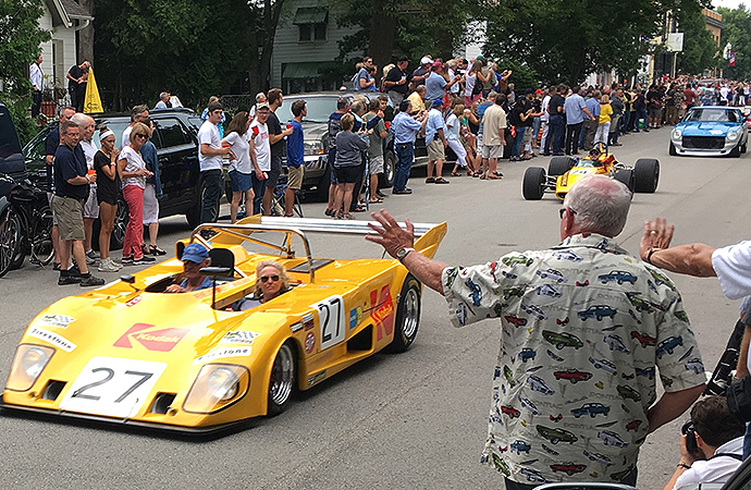 The racecar parade is a fan favorite of the WeatherTech International Challenge. | William Hall photo