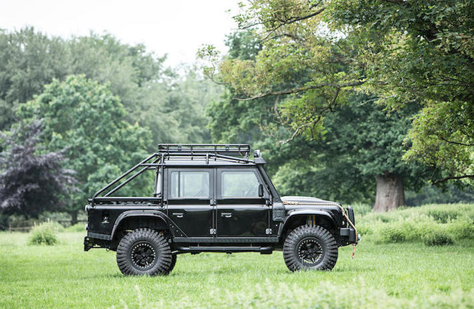 This Land Rover is only one of 10 made for the James Bond film Spectre and you can own it.   Bonhams photo