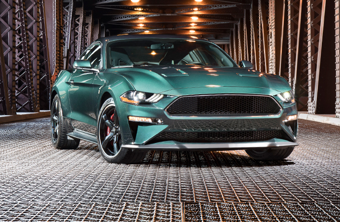 The 2019 Ford Mustang Bullitt pays homage to a muscle classic, but it's loaded with new technology. It also as a V8 that puts out at least 475 horsepower. | Ford Motor Company photo
