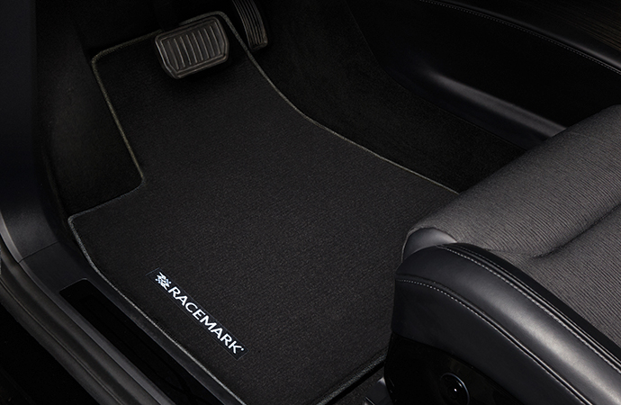 GGBAILEY produces RACEMARK floormats, which give drivers a chance to experience racing heritage. | RACEMARK photo