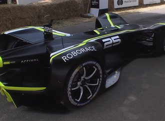 Watch a fully self-driving car make the Goodwood hillclimb